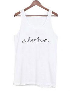 Aloha White Tank Top EM01
