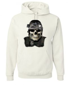 Badass Military Skull Hoodie VL01