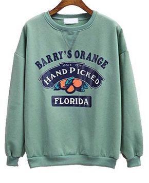 Barry's Orange Florida Sweatshirt AV01
