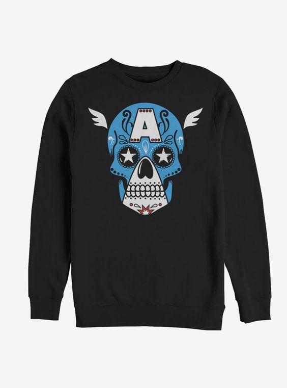 Captain America Skull Sweatshirt VL01