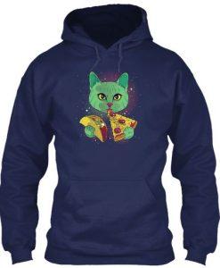 Cat Eat Pizza Hoodie EL