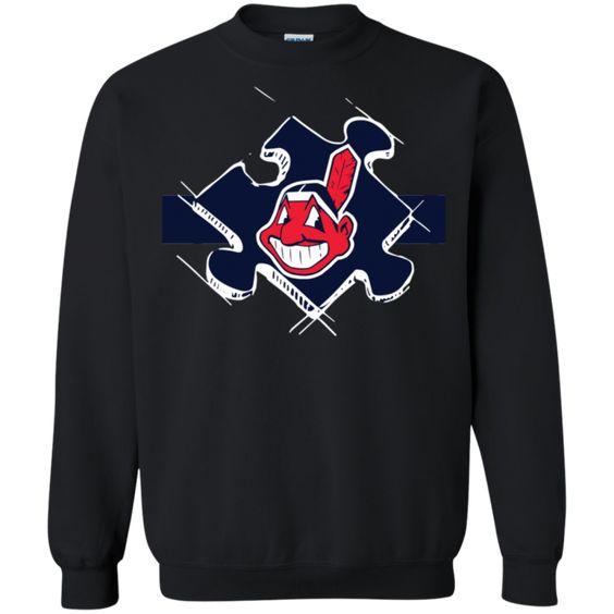 Cleveland Indians Autism Sweatshirt AV01