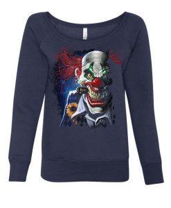 Creepy Joker Clown Women's Sweatshirt ER01