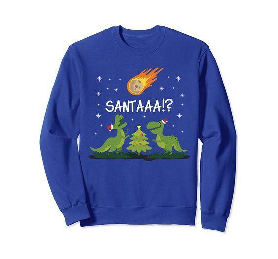 Dinosaur Meteor Santa Sweatshirt FD