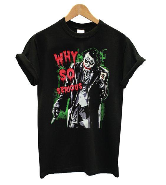 Serious Joker Black T shirt ER01