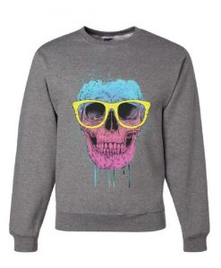 Skull with Glasses Sweatshirt VL01