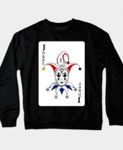 Sweat Shirt Joker Playing Card ER01