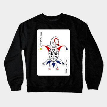 Sweat Shirt Joker Playing Card ER01