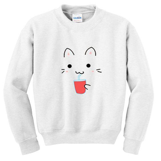cute cat sweatshirt EL