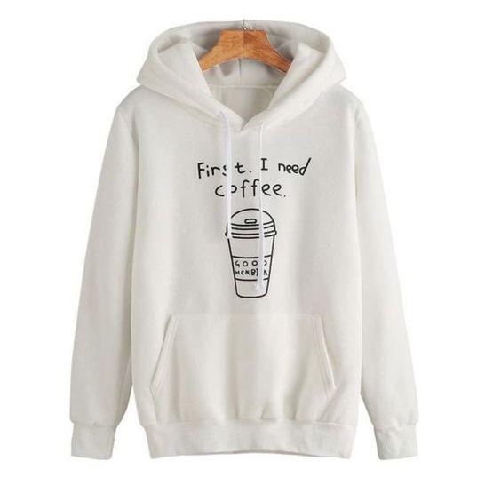 I Need Coffee hoodie N28AI