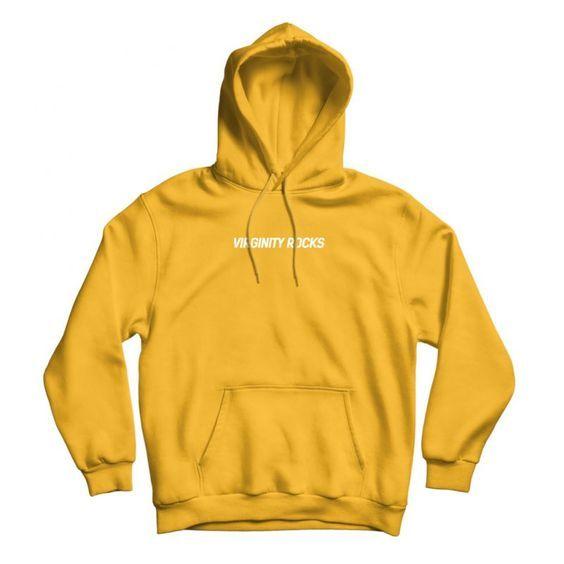 Virginity Rocks Gold hoodie N28AI