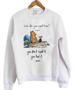 don't spell it you feel it sweatshirt ER25N