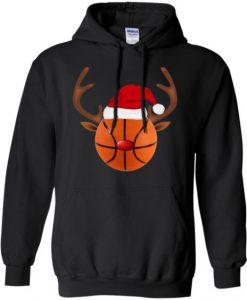 Basketball Reindeer Hoodie D7VL