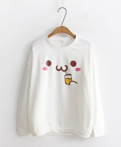 Cartoon Print Long Sweatshirt D3AZ