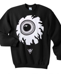 Eyeball Anime Black Sweatshirt VL2D