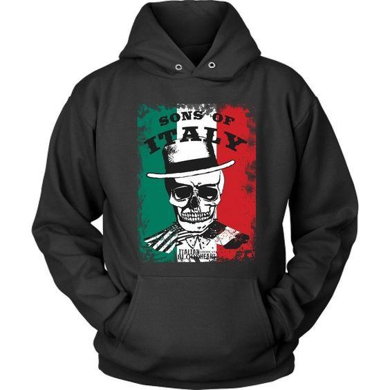 Italian Black Hoodie D7VL