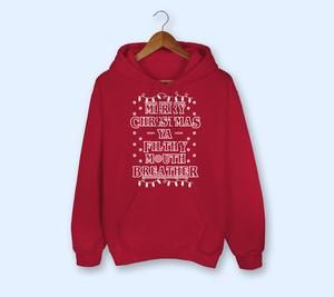 Merry Christmas Red Hoodie D7VL