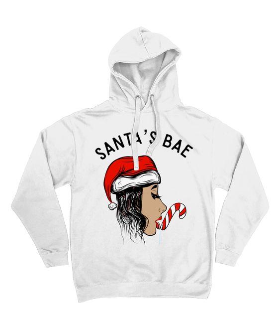 Santas Bae Christmas Hoodie D7VL