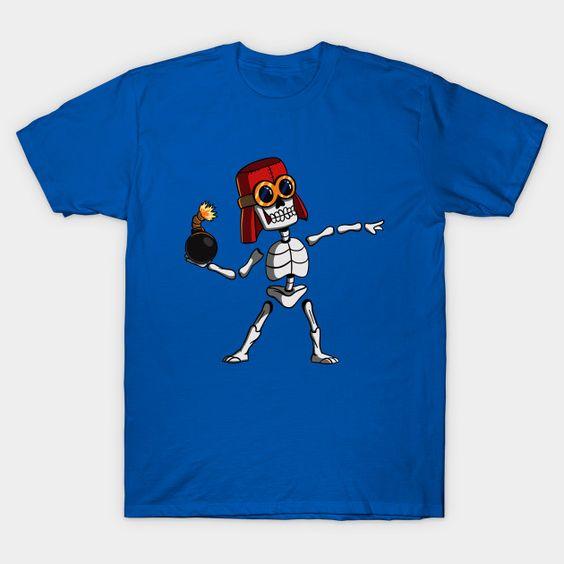 Skeleton Banksy T-shirt ER23D