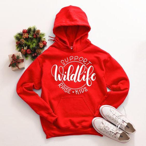 Support Wildlife Raise Hoodie D7VL