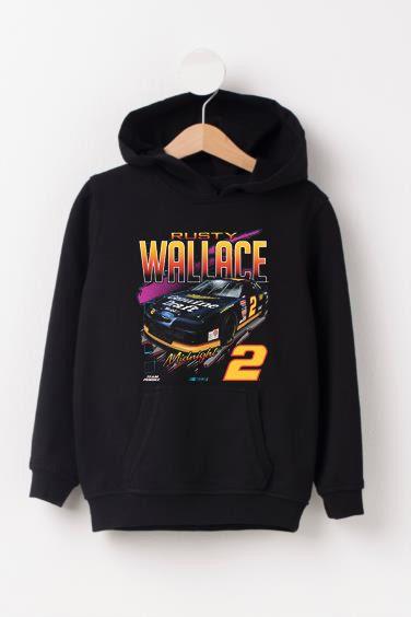 Wallace Black Vintage Car Hoodie VL2D