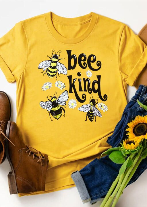 Bee Kind Floral T-shirt YN6M0