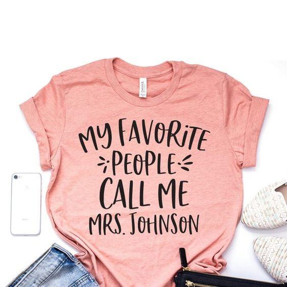 Call Me Mrs Johnson T Shirt AN7M0