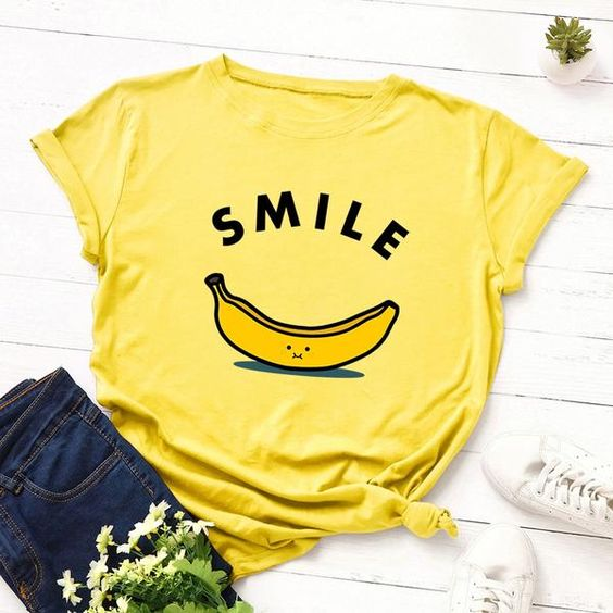 Smile Graphic Tee Shirt YN6M0