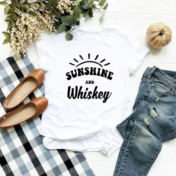 Sunshine and Whiskey T Shirt EP22A0
