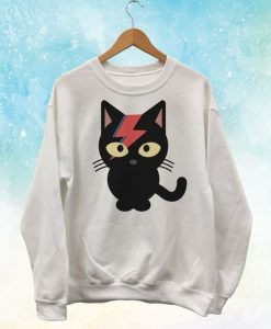 Bowie Black Cat Sweatshirt LI30JL0
