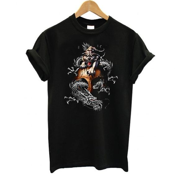 Chinese Tiger and Dragon t shirt FD4JL0