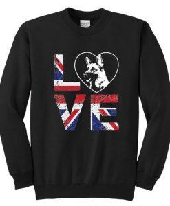 Love British Flag Sweatshirt LI30JL0