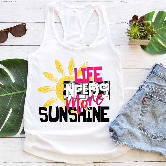 Life needs more sunshine Tanktop LE21AG0