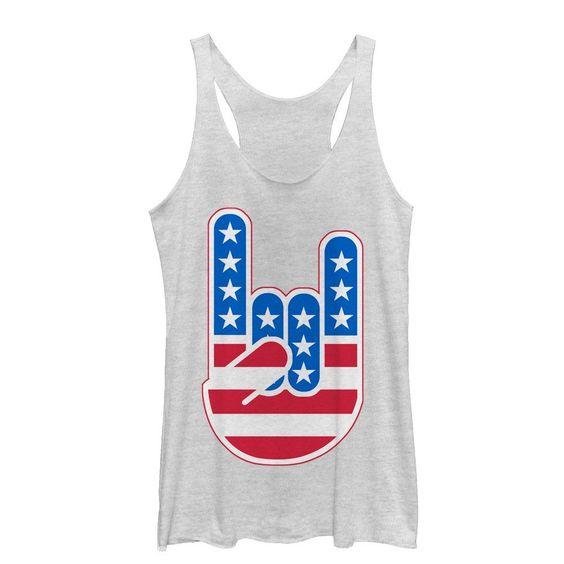 Rock On American Flag Tanktop LE21AG0