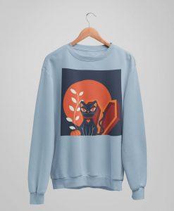 Halloween Cat Sweatshirt TY1S0