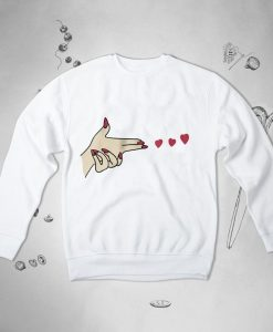 Hearts Love Sweatshirt TY1S0