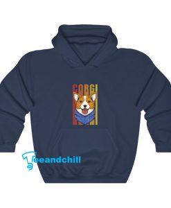 Corgi Dog Bandana Hoodie SR11D0