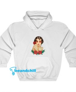 Girl Flower Red Hoodie SR11D0