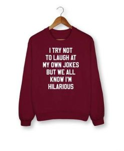 We All Know I'm Hilarious Sweatshirt DK8MA1